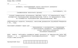 Что означает налоговый резидент РФ