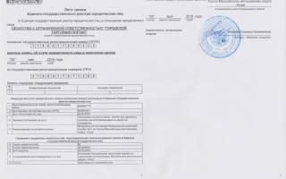 Как получить лист записи ЕГРЮЛ в налоговой